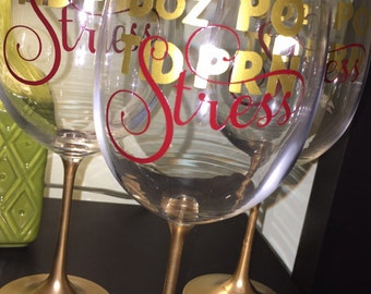 Hand Made Nurse Doctor Wine Glass 8oz PO TID PRN Stress Gift