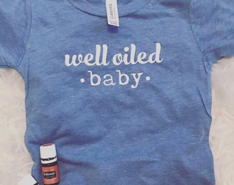 Oily Baby | Essential Oil T-Shirt | Young Living |DoTerra | Funny Baby  | Oily Holistic Mom | Baby Shower | Oily Life | Baby Fashion