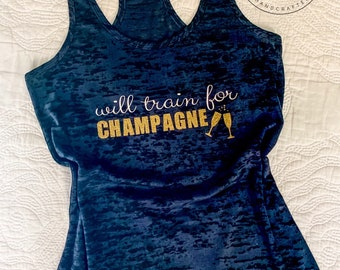 WILL TRAIN for CHAMPAGNE *Workout Tank Top* Women's Running Top