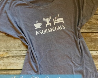 Squad Goals  | Motherhood | Mom Workout | Mom T-Shirt | New Mom | Tee | Kids | Funny Shirt | Coffee, Workout, Sleep