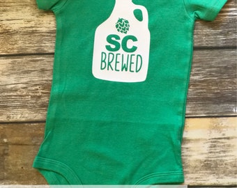 Handmade, Personalized Brewed | Brewery | Beer Lover | State Brewed | Baby One Piece Bodysuit | GOT | Baby Shower | New Baby Gift
