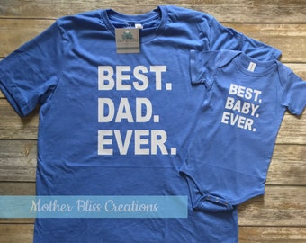 7e94e741 Family T-Shirt Set | Father Son | Fathers Day | Mom Dad Brother Sister  Matching Set | Family | Best Dad Ever | Best Kid Ever | Best Baby