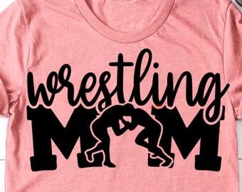Wrestling Mom Squad T-Shirt | wrestling mom shirt