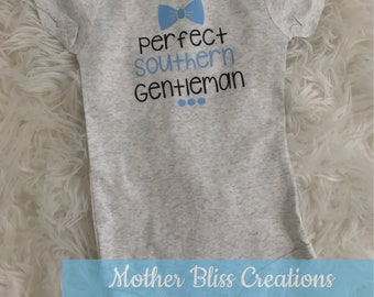 Perfect Little Southern Gentleman | Baby Bodysuit | Funny | Baby Shower | New Mom | New Baby | Diaper