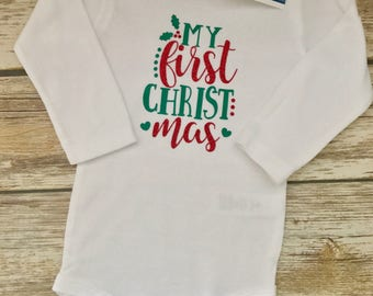 "Handmade, Personalized ""My First Christmas"" 