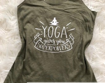 Yoga Makes Me Superpowerful | Yogi | Yoga | Namaste Tank