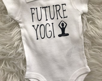 Future Yogi Yoga Namaste | Baby Bodysuit | Funny | Baby Shower | New Mom | New Baby | Diaper