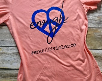 End Gun Violence Peace Shirt | Gun Reform Tee | 5 of each purchase will be donated | Save Our Children