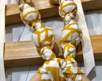 Arizona Canyon Nursing Necklace | Breastfeeding | Organic Wood | Wooden | Fabric Neckwear | Baby Shower | Nursing