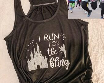 Run For The Bling | Running Tank | Princess Castle Inspired Disney | Runner Tank Top