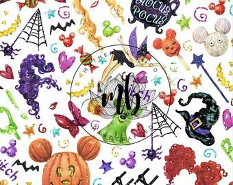 IN STOCK! Fabric Tumbler Cut Size 10x13 - Halloween Fabric - Mickey Halloween Fabric - Great for Mask Making