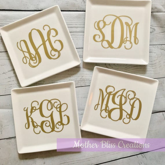 Monogram Ring Dish   Jewelry Dish   Ring Holder   Bridesmaids Gift   Monogram Personalized Ring Dish   Bride Gift   Wedding Gift