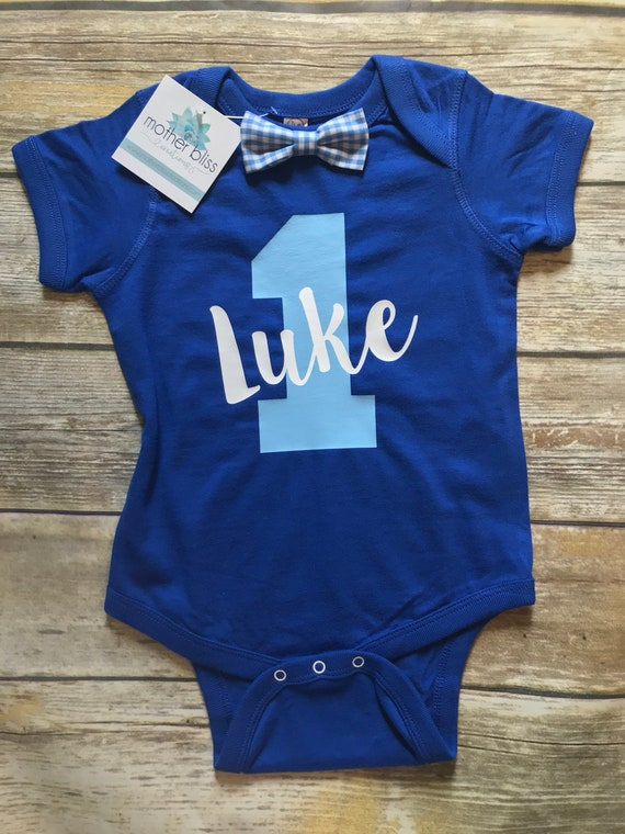 First Birthday Simple ONE Bodysuit Witt Bow tie | Handmade | Tons of Colors | First Birthday Outfit | Personalized Bodysuit Bow tie