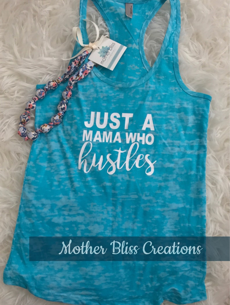 Just A Mama Who Hustles Running Shirt hustle tee Running Tee Funny Workout Tee  Moms Workout Fit Moms Rock
