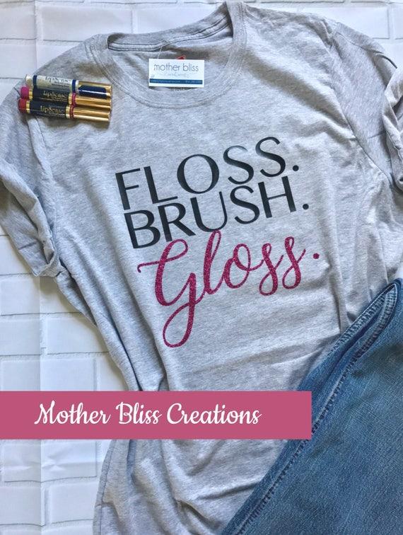 Lipsense Consultant | Brush Floss Gloss | Make Up | Lipstick | Gloss | Boss | Shirt