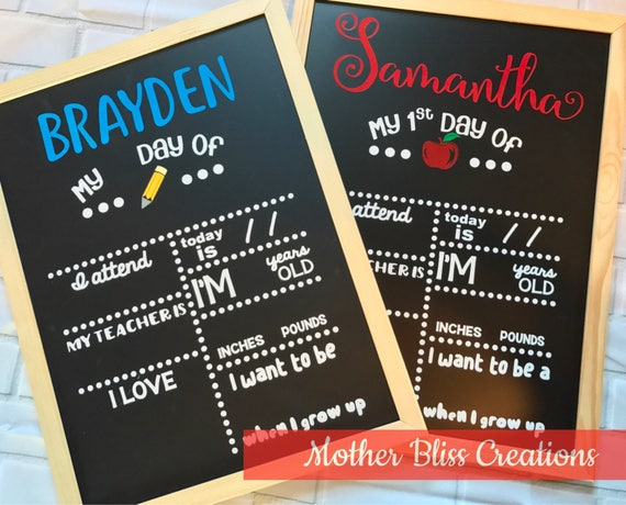 First Day of School Chalkboard - First Day of School Sign - First Day of School - First Day of School Chalkboard Back To School Sign