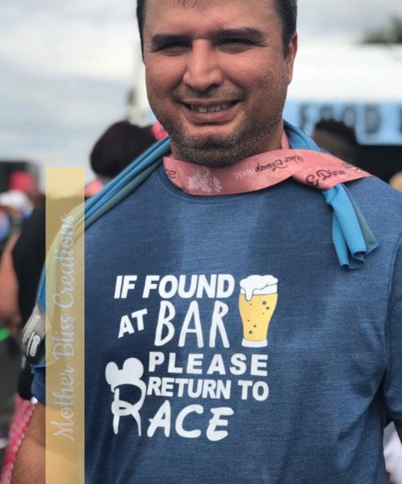 Disney Race Shirt   Run Disney   If Found Please Return to Race   Champion Moisture Wicking Running Shirt   Wine and Dine Marathon   Epcot