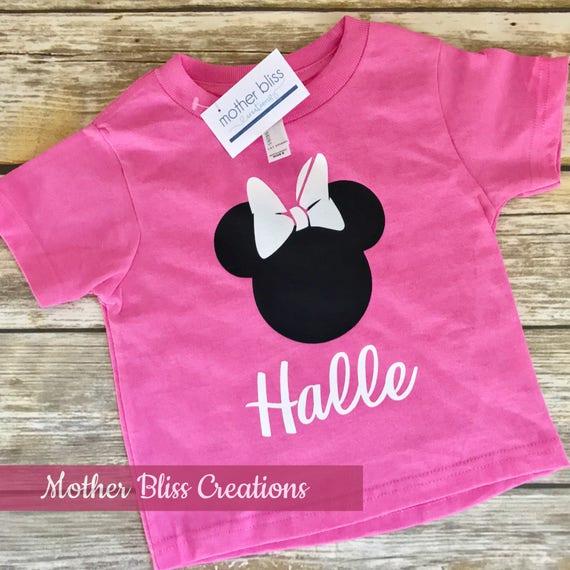 Disney Minnie or Mickey Profile Personalized   Vacation Family Shirt   Disney Shirt   Motherhood   Family Vacation Shirts   Mickey Shirts