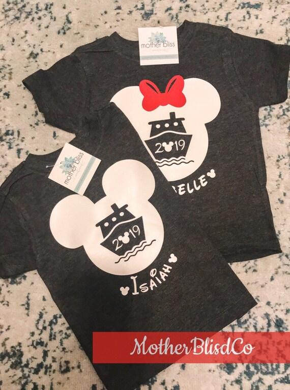 Disney Mickey Minnie Boat Cruise Ship Shirt Personalized | Vacation Family Shirt | Disney Shirt | Motherhood | Family Vacation Shirts
