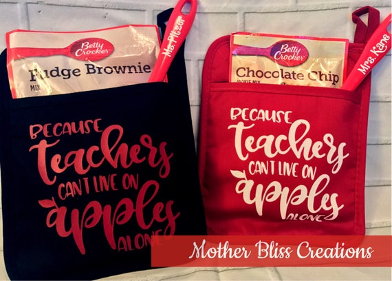 Teacher Gift | Teacher Appreciation | End of the year gift | Personalized Pot Holder | Teacher Christmas Gift