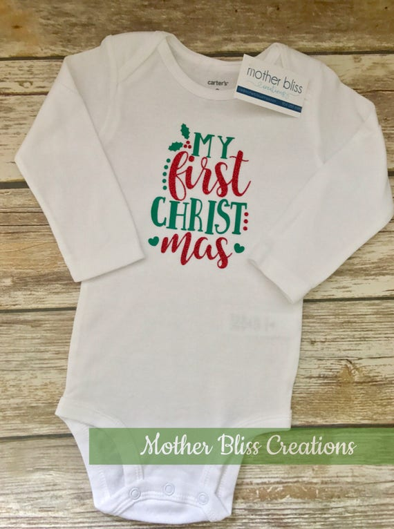 """Handmade, Personalized """"My First Christmas"""" 