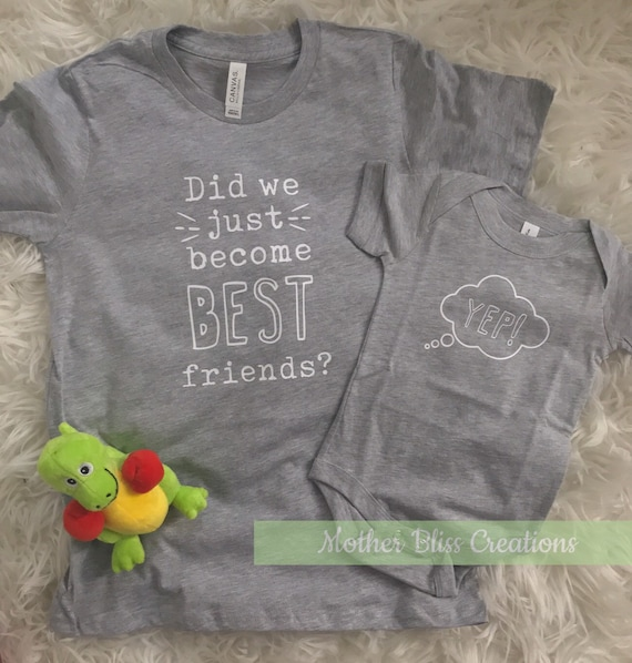 Did We Just Become Best Friends Set, Sibling Shirts, Twin Shirts, Sibling Announcement, Pregnancy Announcement, Mommy and Me Shirt