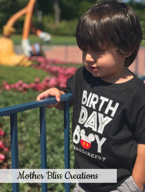 Birthday Boy Mickey Disney T-Shirt | Toddler  Baby Shirt | First Birthday | Disney Shirt | Mickey Mouse | Oh Toodles