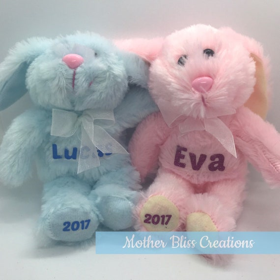 Personalized Easter Bunny | Baby's First Easter | Easter Gift | Basket Filler | Easter Basket