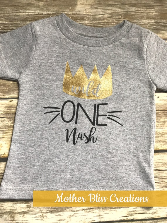 """First Birthday """"Where All the Wild Things Are"""" Shirt 
