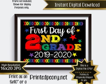 picture regarding Last Day of 2nd Grade Printable titled 2nd quality Etsy