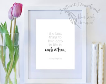 Printable Art, Printable Love Quote, Quote Wall Art Print, Instant Download, Digital Download, Typography, Quote