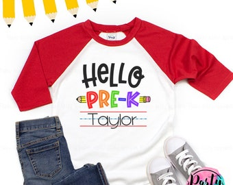 Kindergarten Shorts or Pants Back to School 1st Pre K 3rd Home school 4th Grade Princess Shirt or Outfit with Skirt 2nd