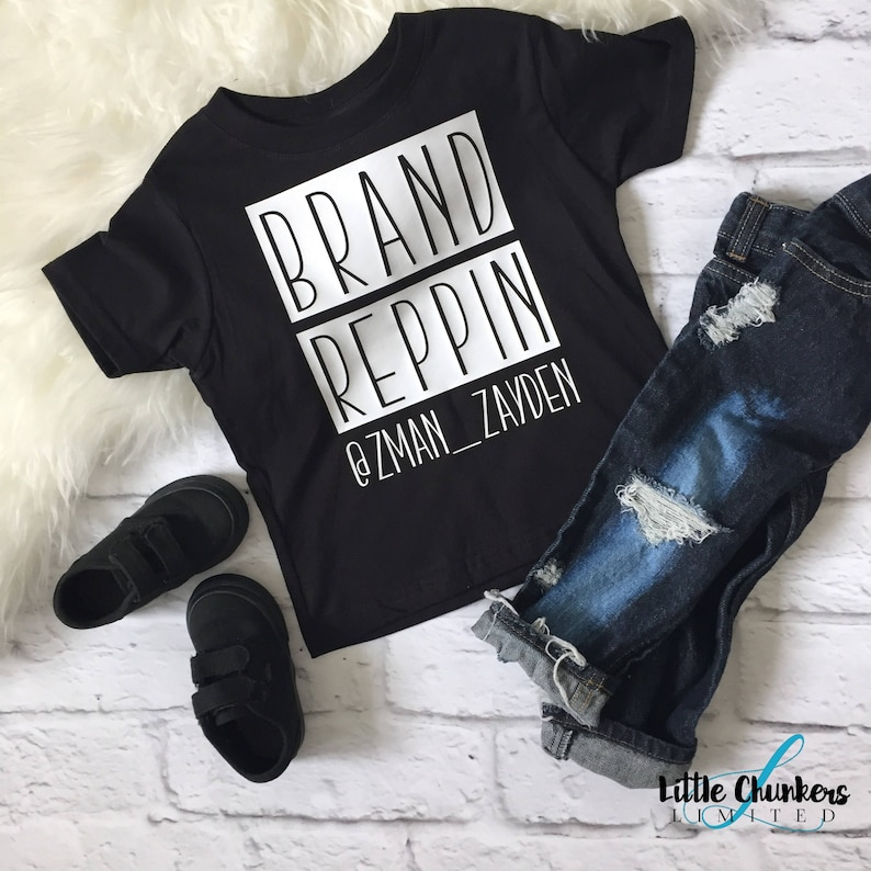 Brand Reppin Shirt Brand Rep Tee Custom Instagram Shirt Etsy