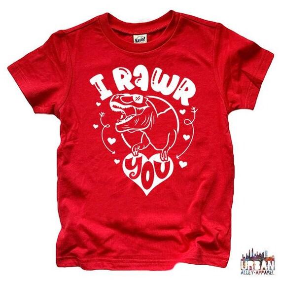 074497ad I rawr you shirt I love you shirt Kids dinosaur shirt | Etsy