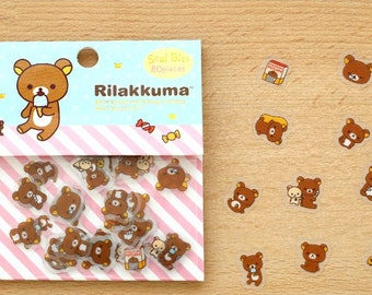 Rilakkuma Stickers / Cute Stationary / San X / Cute Stickers / Cute Flake Stickers / Bear Stickers / Japanese Stickers / Calendar Stickers