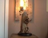 Articoli simili a legno e rame rustico lampada stile edison ceppo