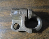 Early Railroad Brass Lock W No Key - Marked WRRS CO ( Western Rail Road Supply Co ) Numbered 0147-6 - 2 quot x 3 quot - Very Nice