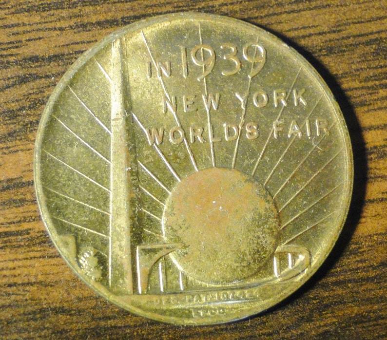 George Washington Inauguration 1 14 Diameter 1939 New York World/'s Fair Advertising Token Souvenir Token Of The 150th Anniversary