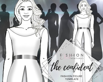 The Confident    Fashion Template, Fashion Illustration, Croquis, Fashion drawing