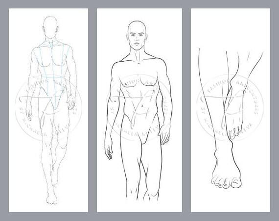 Male Catwalk Model Printable