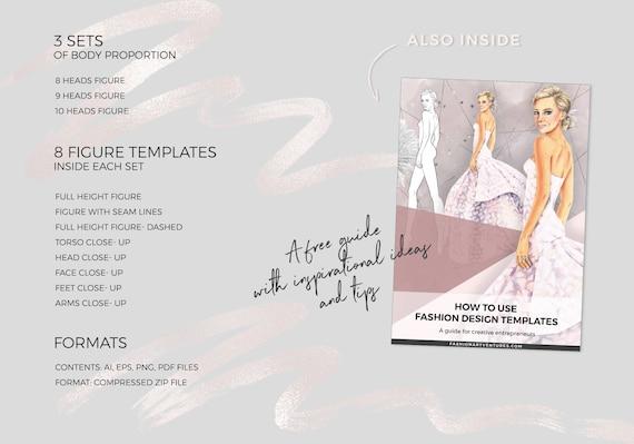 Plus Size Male Catwalk Model Printable Set Fashion Template Fashion Illustration Template Fashion Croquis Fashion Model
