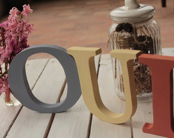 Wooden letters Yes