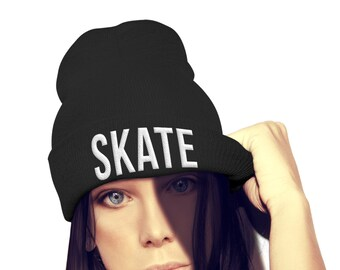 low priced 1fff3 14b25 Skate Beanie Hat Skater Hat Skateboard Top Gift Stocking Filler Board Emo  Goth Swag Dope Street Wear