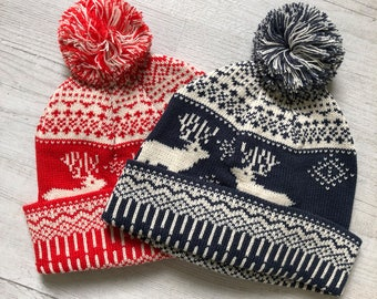 a5f746e28ec7a Christmas Bobble Hat