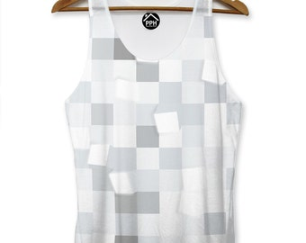 e604daff070708 Light Square Grey Abstract VEST Top Tank Man Triangle Hipster Dope Summer  PP182