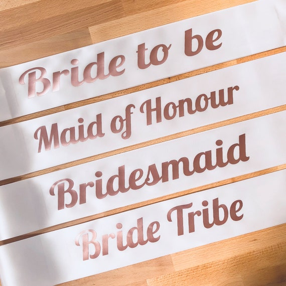 Rose Gold Hen Party Sash