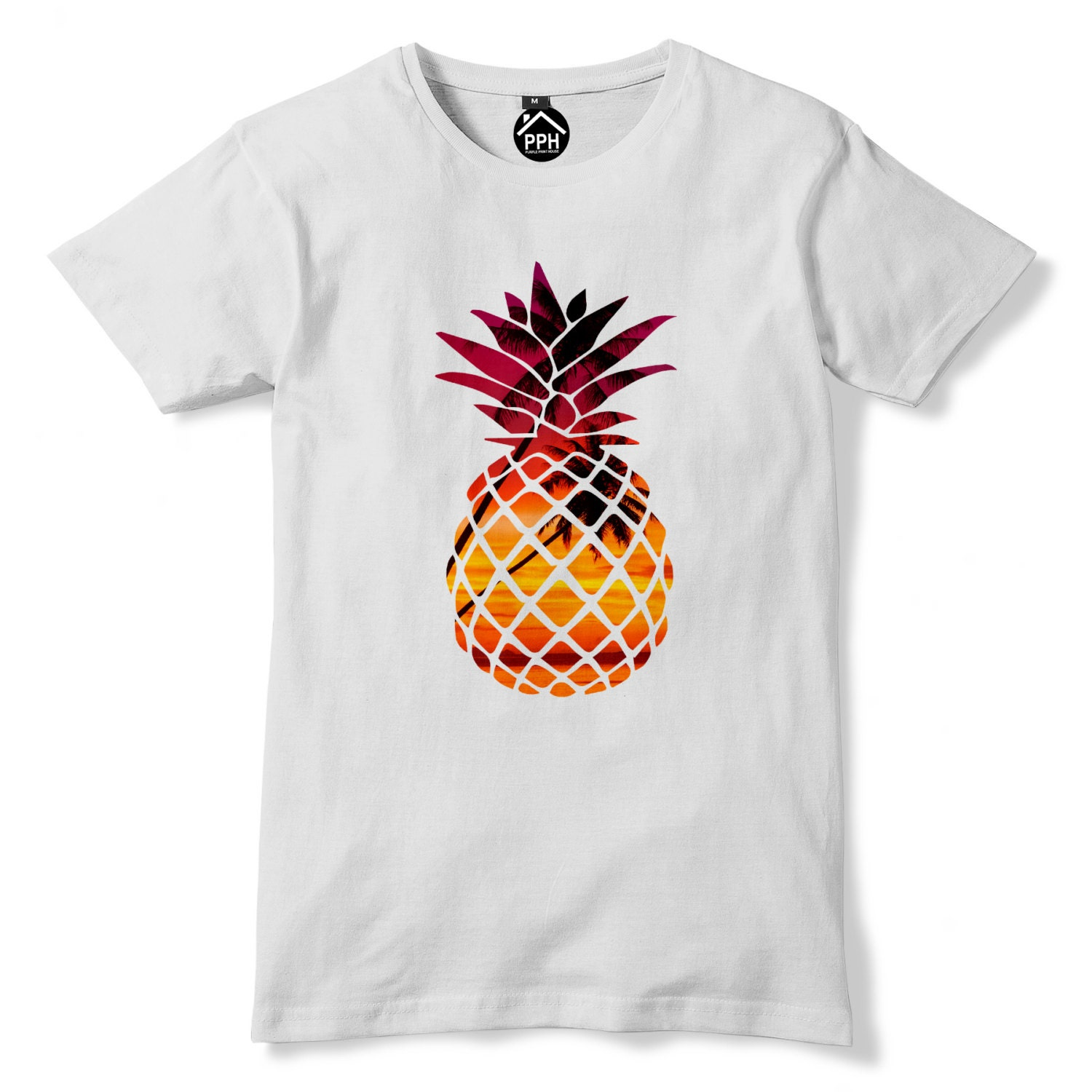2f449736be8e2 Tropical ananas fruits exotiques fruits Tshirt T Shirt hommes | Etsy