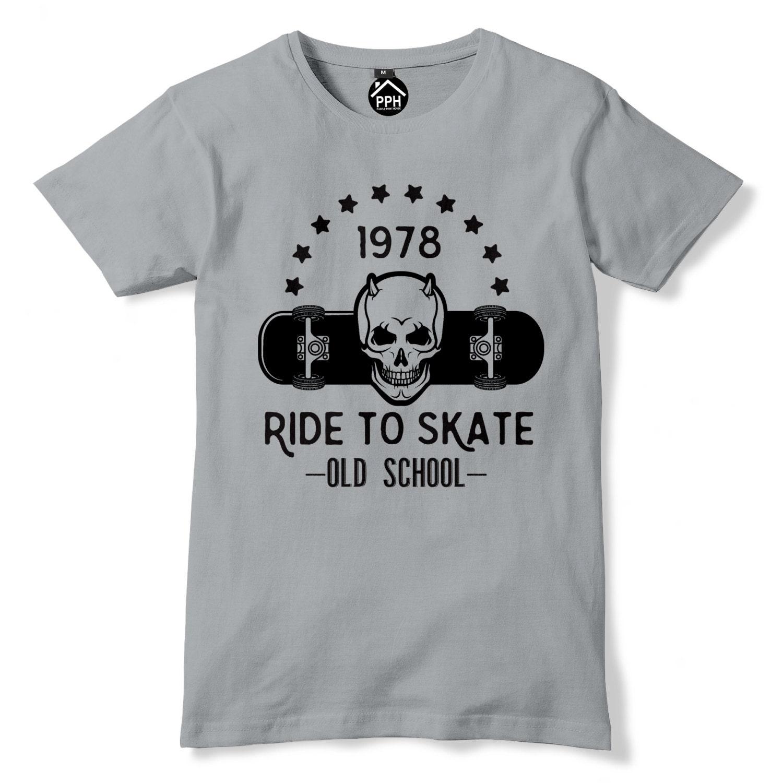a43e4b20d8e17 Balade à Skate T Shirt Old School tête à roulettes haut tête School de mort  Indie