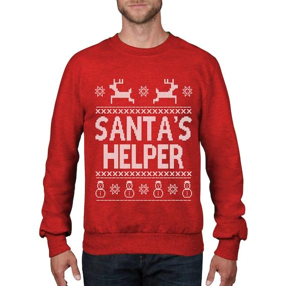 Geek Christmas Jumper.Santa S Helper Funny Christmas Jumper Song Geek Christmas Sweatshirt Funny Sweater Top Xmas Card Gift Wine Holiday Season Ch15