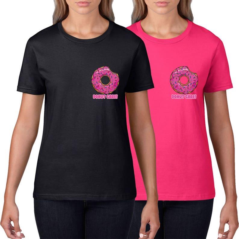 4f5356fa Donut Care Pocket Print Womens T Shirt Funny Donut Gift | Etsy